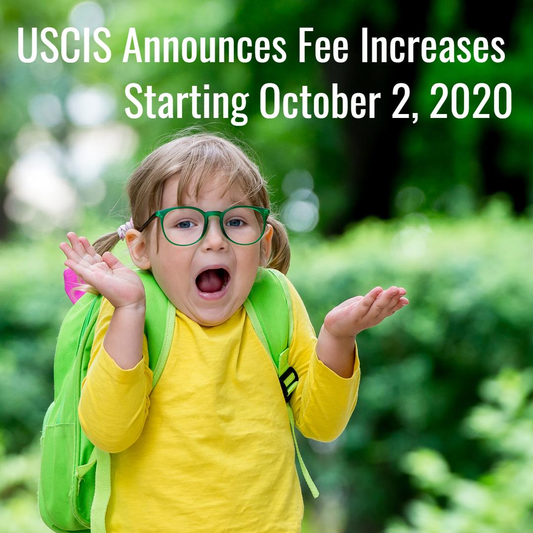 Major USCIS Application Fee Increase Coming Soon